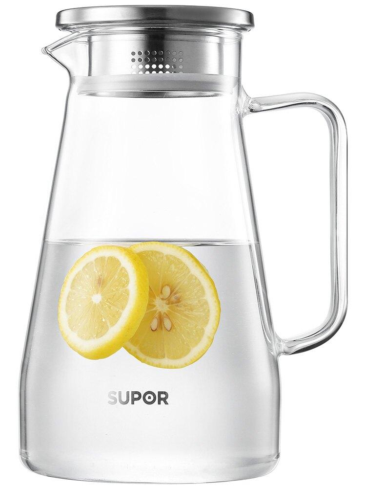 玻璃冷水壺涼水壺家用耐熱高溫大容量泡茶壺涼白開水杯套裝