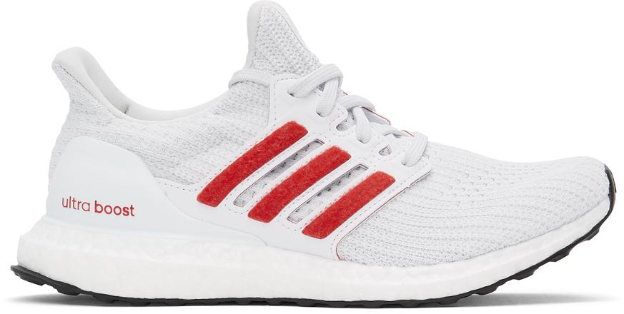 adidas Originals 白色 Ultraboost 4.0 DNA 运动鞋