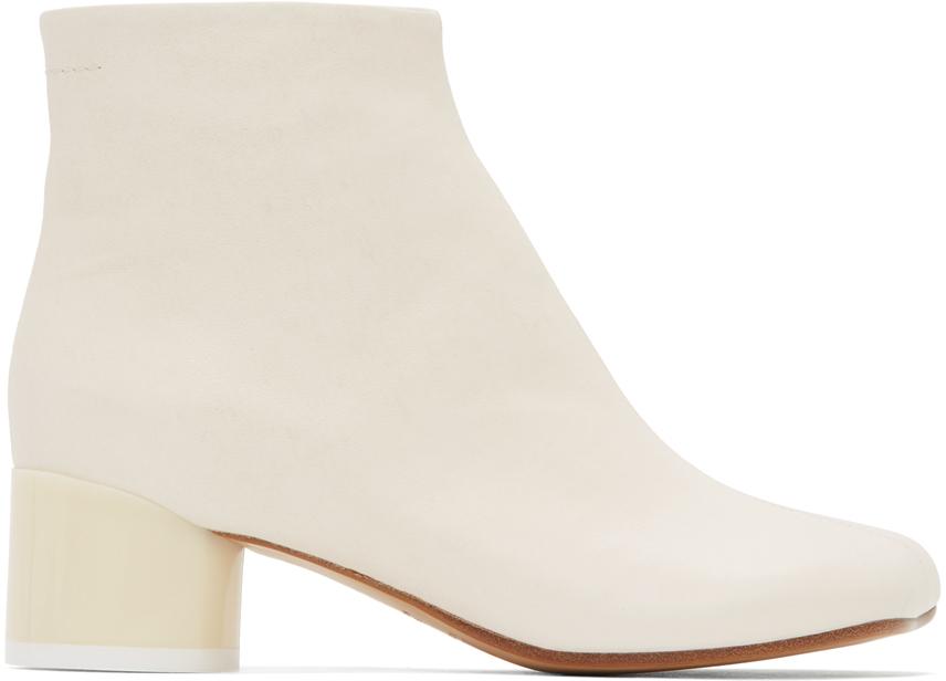 MM6 Maison Margiela 灰白色低跟踝靴