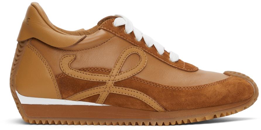 Loewe 黄褐色 Flow Runner 运动鞋