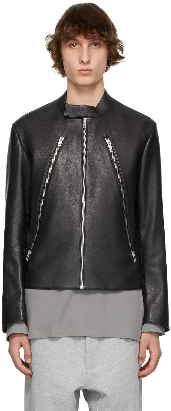 Maison Margiela 黑色皮革夹克