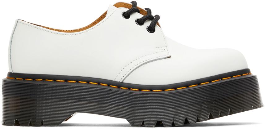 Dr. Martens 白色 1461 Quad 德比鞋