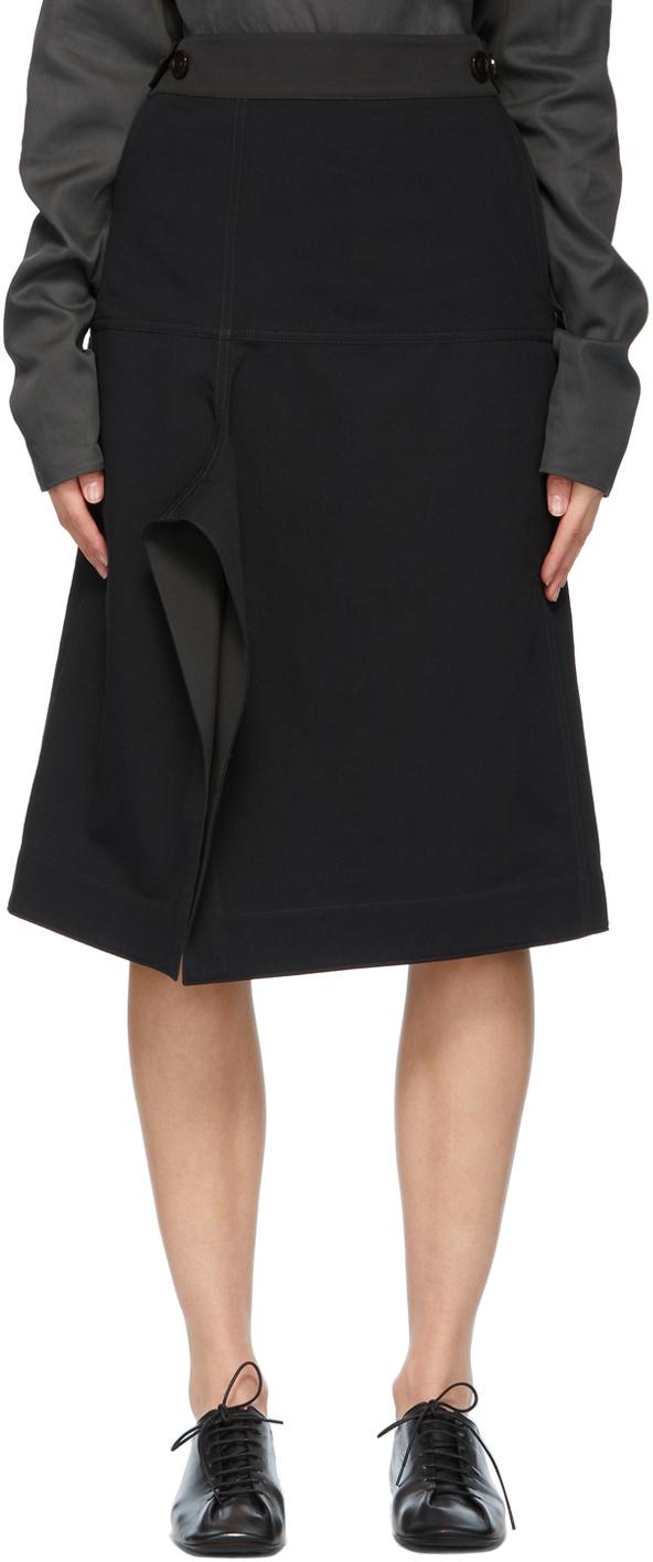Lemaire 黑色 Apron 半身裙