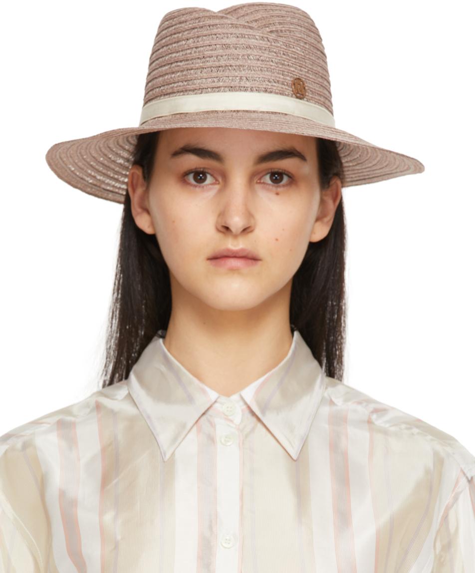 Maison Michel 驼色 Virginie 宽檐帽