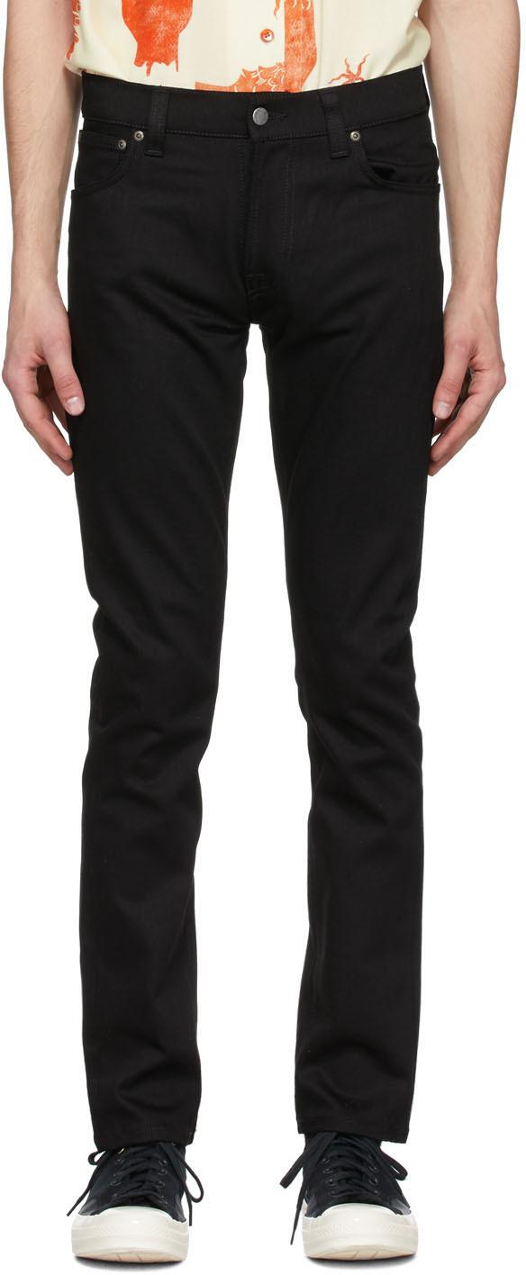 Nudie Jeans 黑色 Thin Finn Dry 牛仔裤