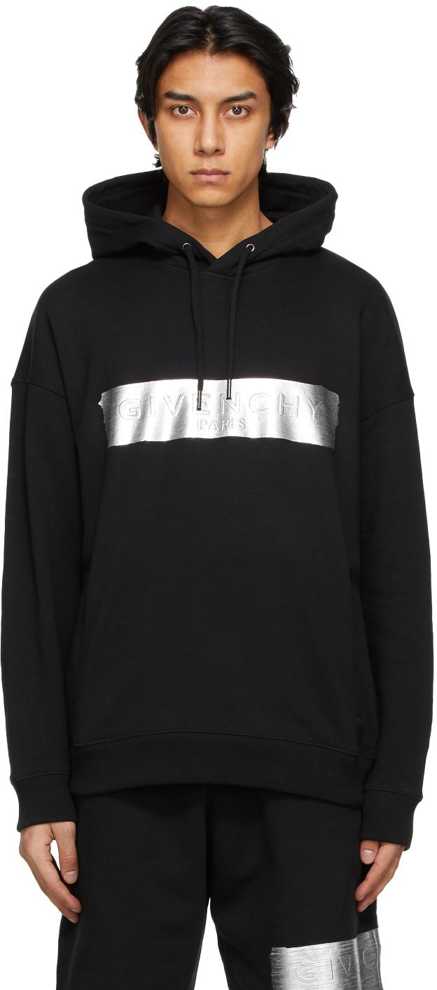 Givenchy 黑色徽标连帽衫