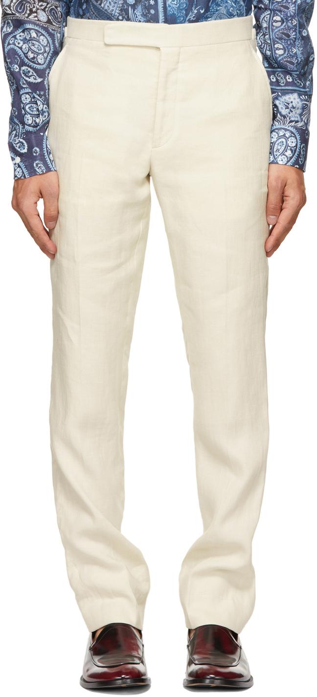 Ralph Lauren Purple Label 米色 Gregory 长裤