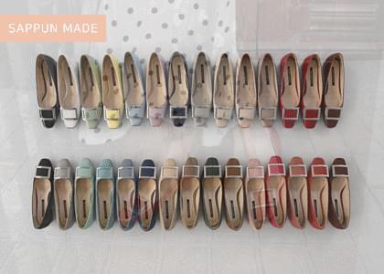 韓國空運 - Eschelon Square Flat Shoes 平底鞋