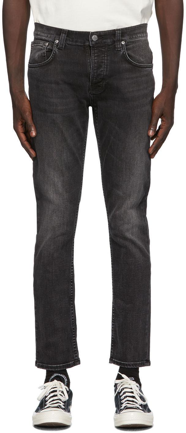 Nudie Jeans 黑色 Grim Tim 有机棉牛仔裤