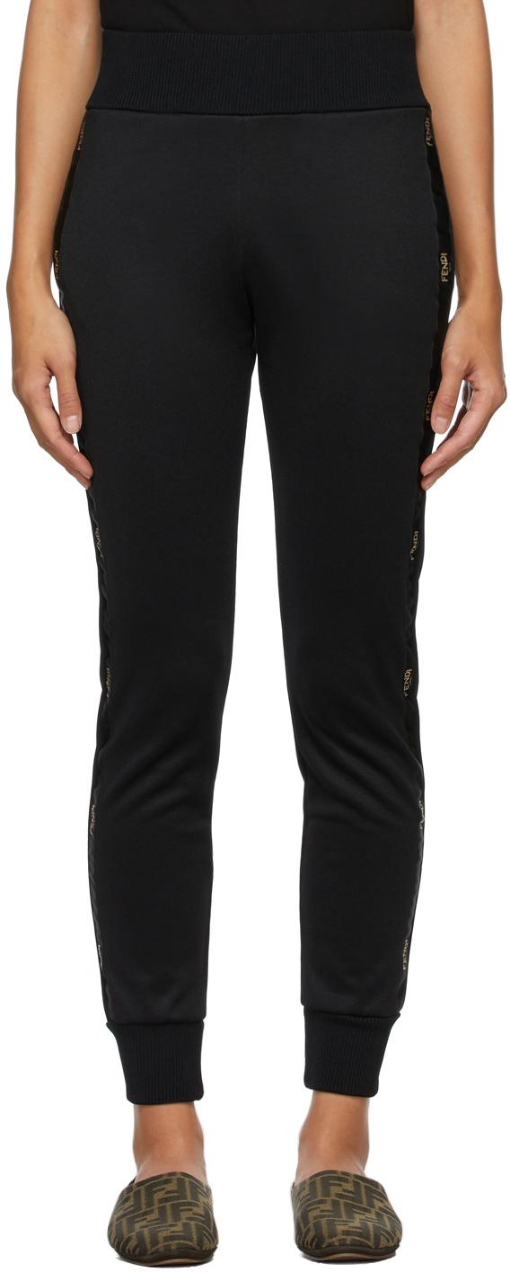 Fendi 黑色徽标运动裤