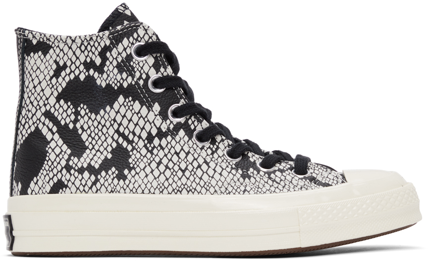 Converse 黑色 & 白色 Chuck 70 蛇纹高帮运动鞋