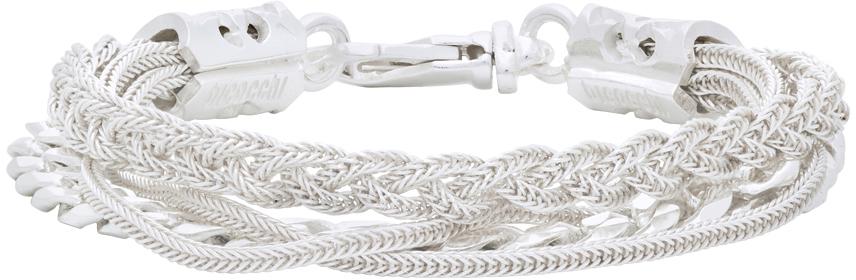 Emanuele Bicocchi 银色 Chain Braided 手链