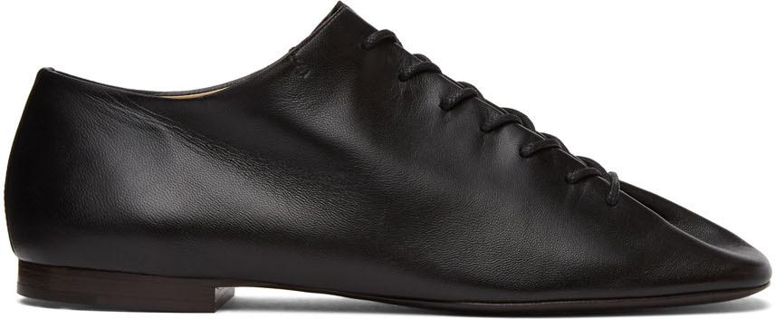 Lemaire 黑色平底德比鞋