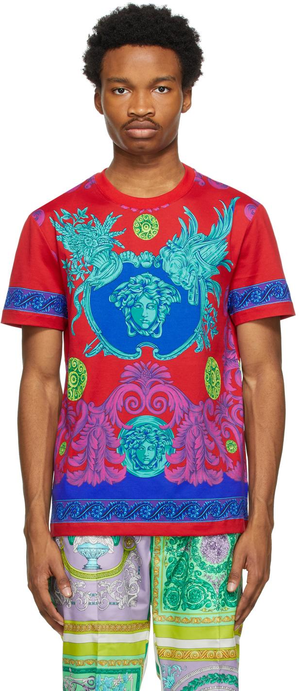 Versace 多色 Barocco T 恤