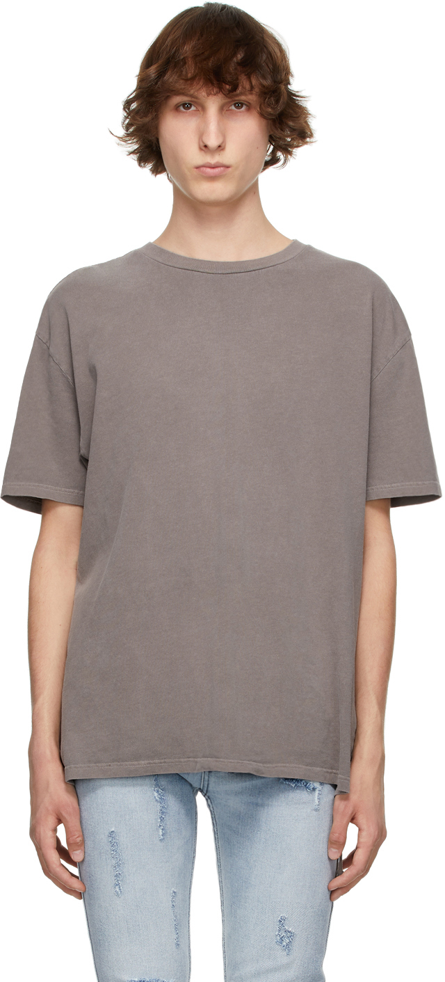 Ksubi 灰褐色 Cross Logo Biggie T 恤