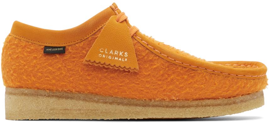 Aimé Leon Dore 橙色 Clarks Originals 联名 Wallabee 莫卡辛鞋