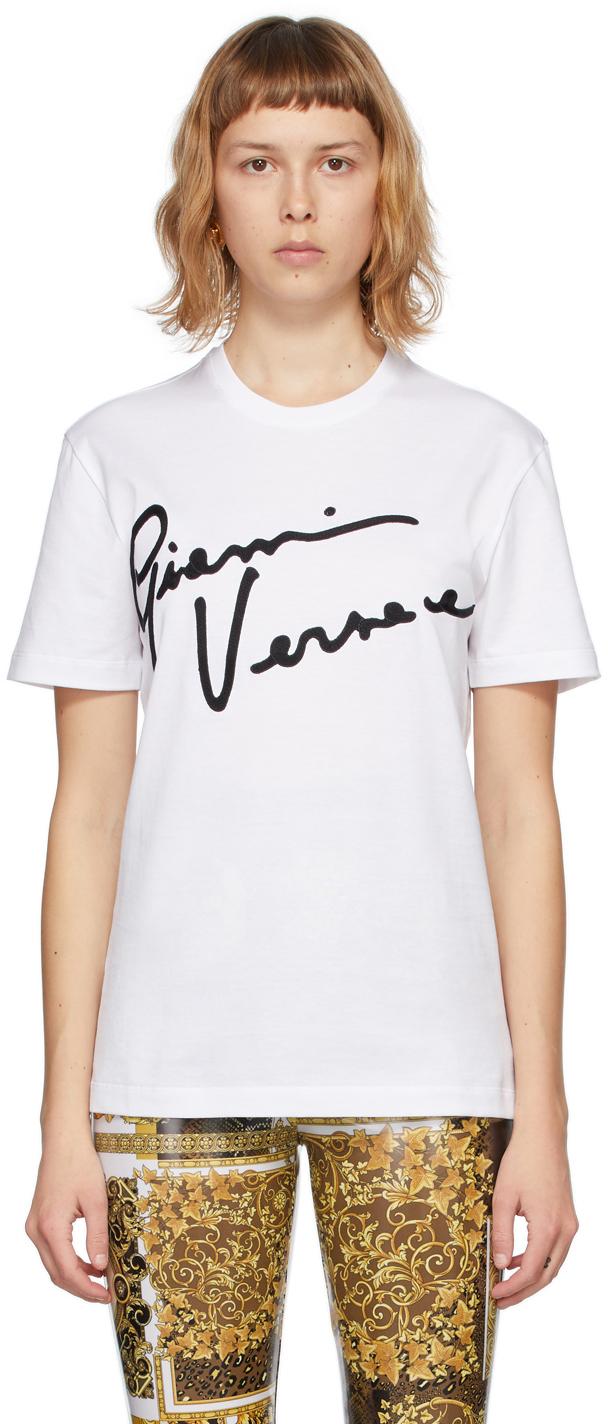 Versace 白色 GV Signature T 恤