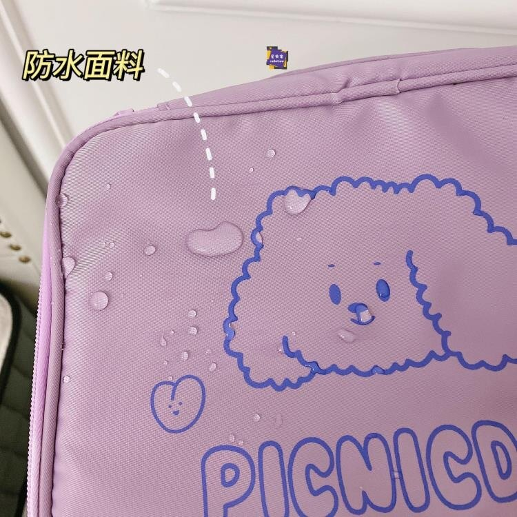 旅行洗漱包 乾濕包 ins風防水大容量女化妝包小熊便攜旅行洗漱收納包