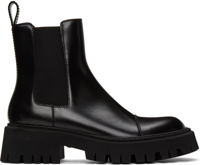 Balenciaga 黑色 Tractor 踝靴