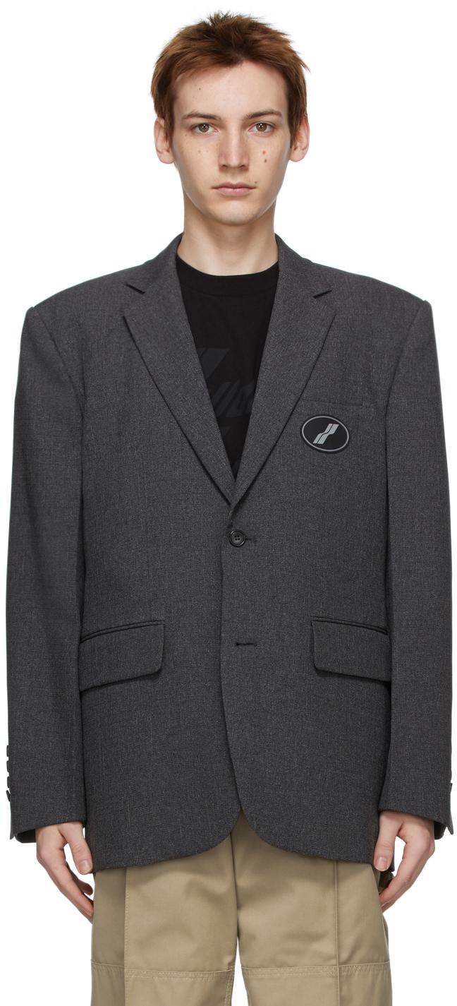 We11done 灰色大廓形西装外套