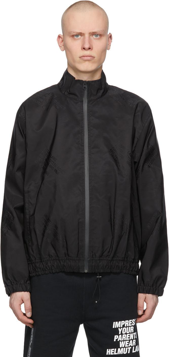 Helmut Lang 黑色徽标运动夹克