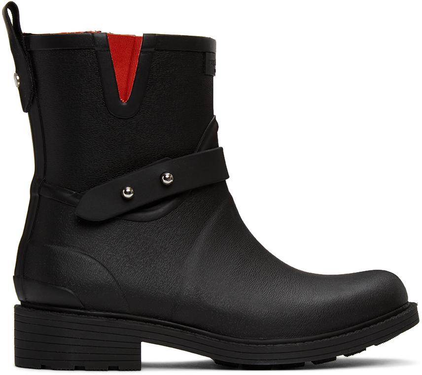 Rag & Bone 黑色 Moto 雨靴