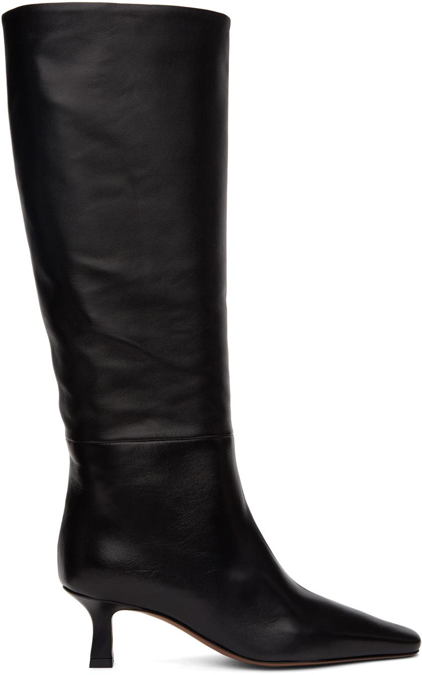 Neous 黑色 Cynis 中筒靴