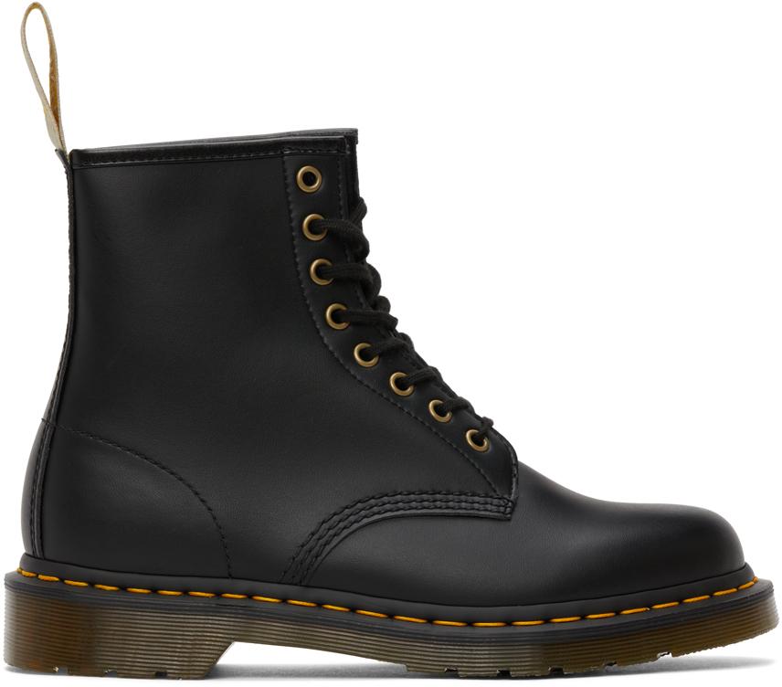Dr. Martens 黑色 1460 Felix 纯素皮革踝靴