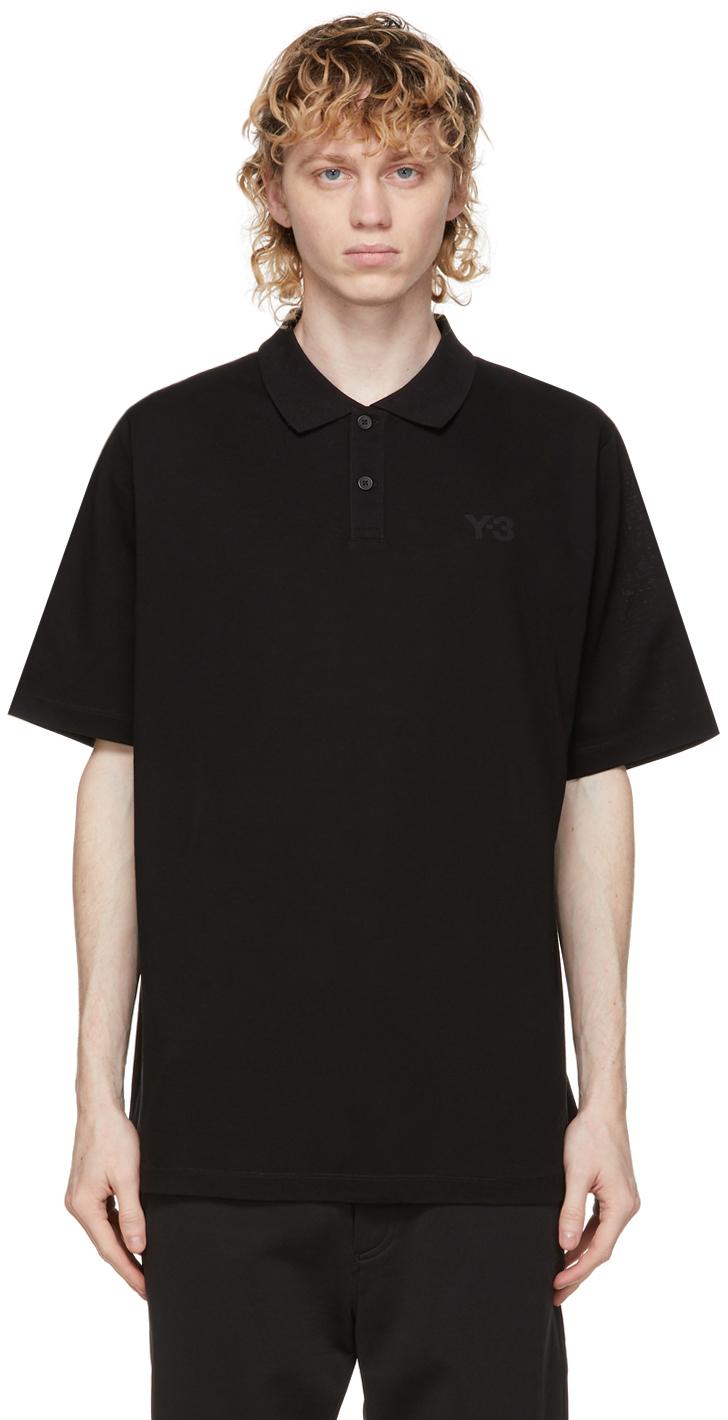 Y-3 黑色徽标 Polo 衫