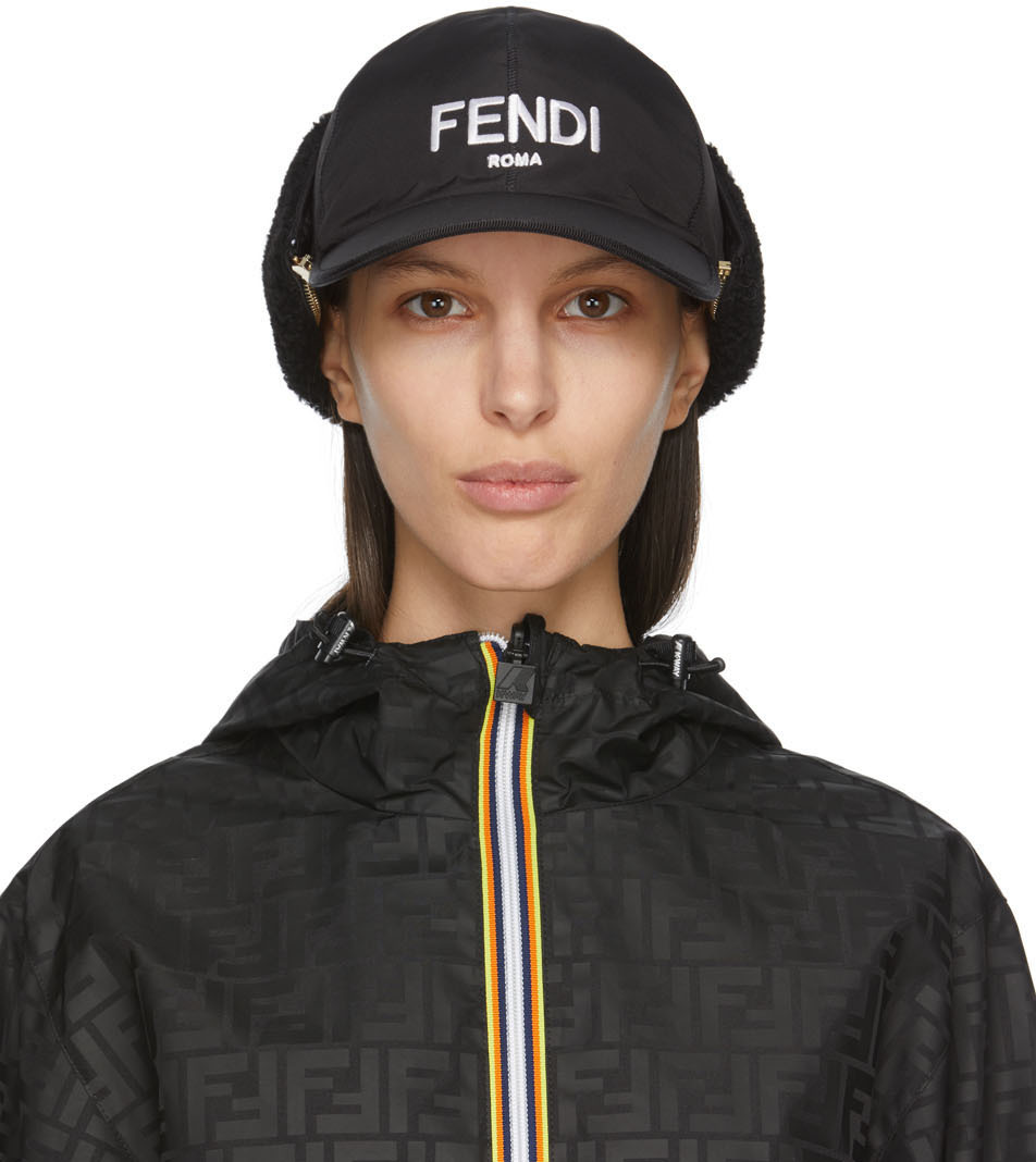 Fendi 黑色尼龙棒球帽