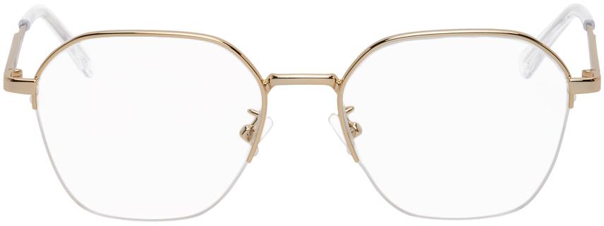 Bottega Veneta 金色方框眼镜