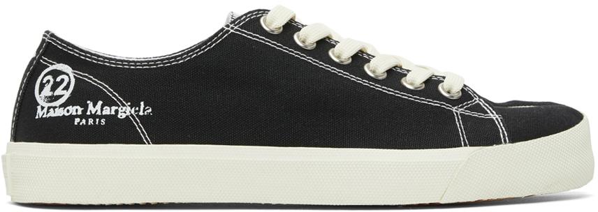 Maison Margiela 黑色 Tabi 帆布运动鞋