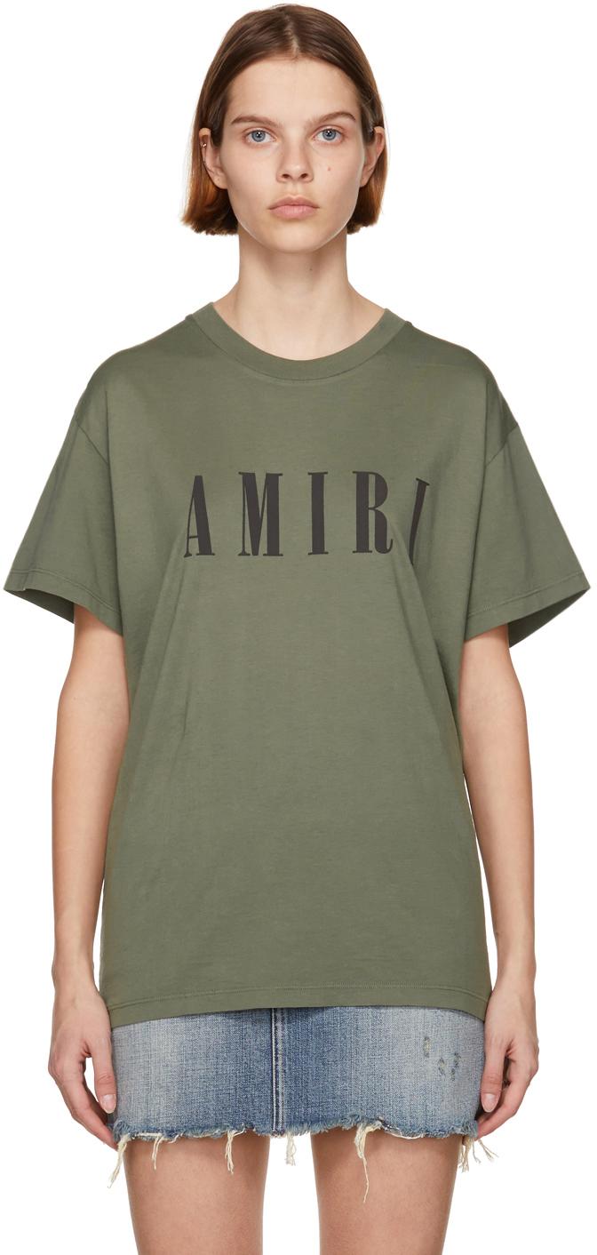 AMIRI 军绿色 Core Logo T 恤