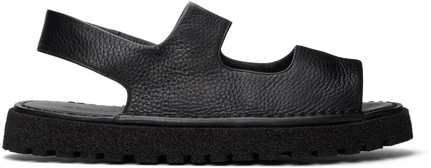 Marsèll 黑色 Sanpomice 凉鞋