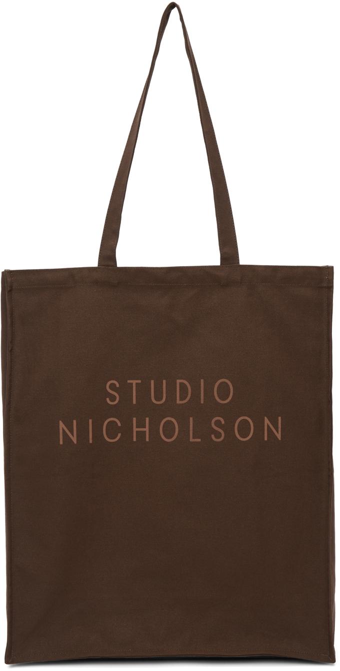 Studio Nicholson 棕色大号 Standard 托特包