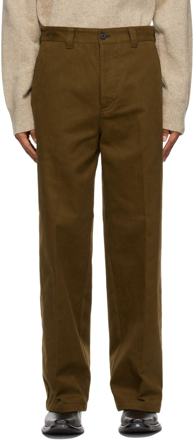 Acne Studios 军绿色 Workwear 长裤