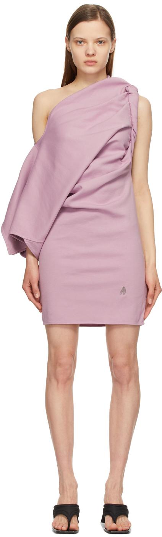The Attico 紫色 T Mini 连衣裙