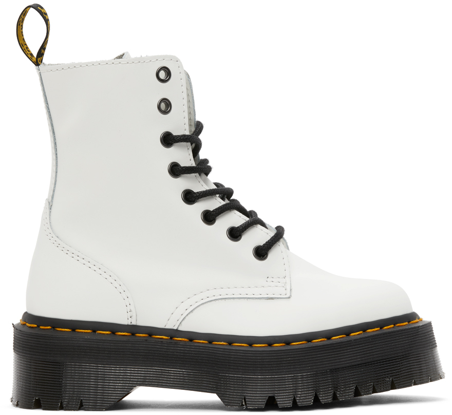 Dr. Martens 白色 Jadon Retro Quad 踝靴