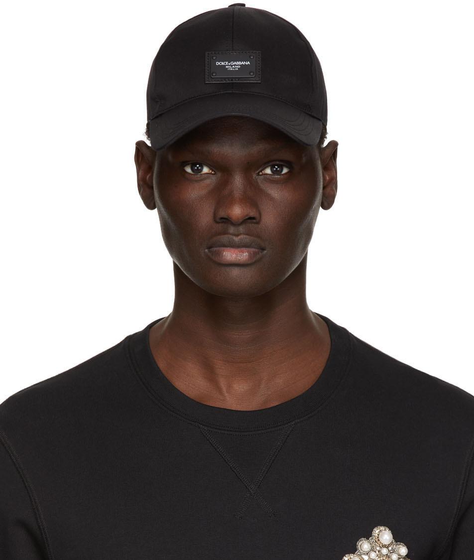 Dolce & Gabbana 黑色徽标贴饰棒球帽