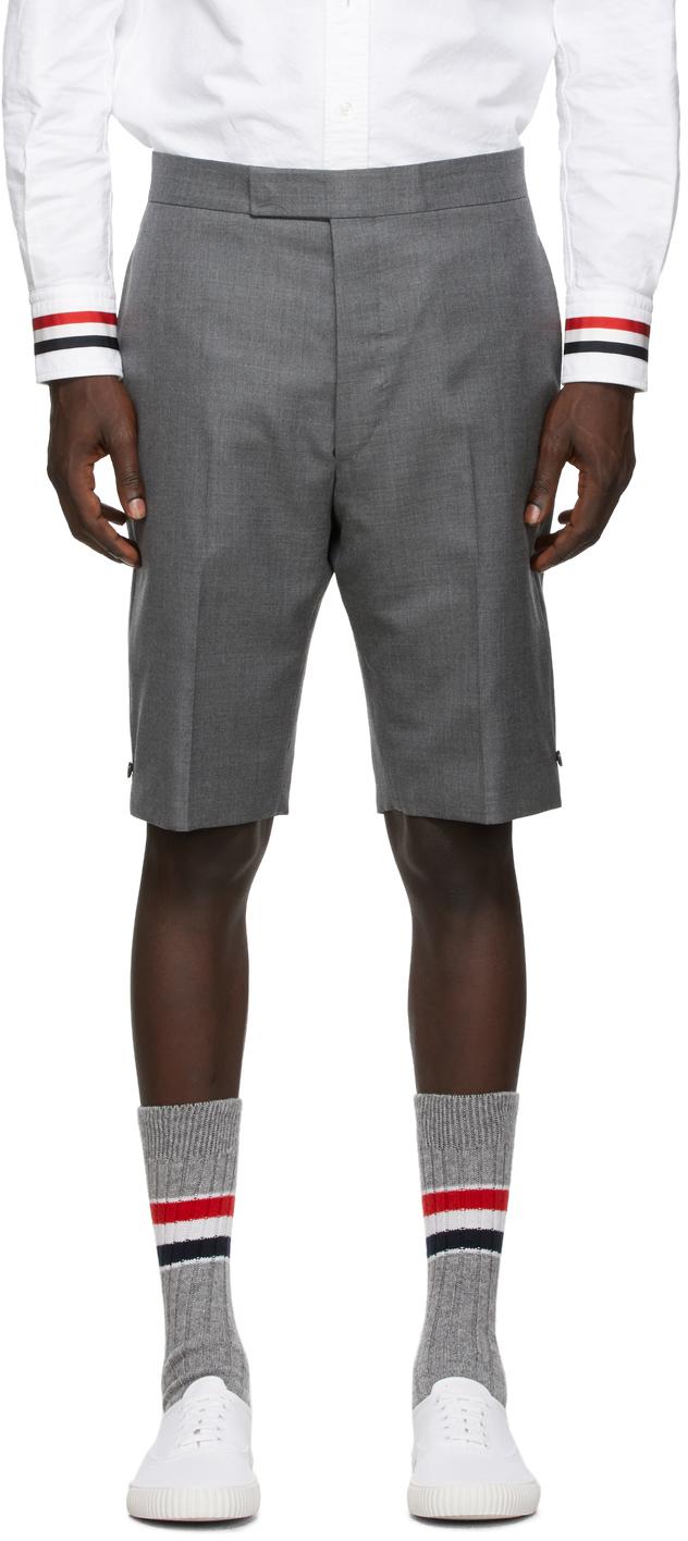 Thom Browne SSENSE 独家线上发售灰色 Super 120s 羊毛短裤