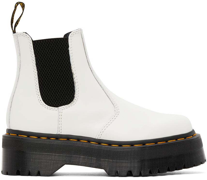 Dr. Martens 白色 2976 Quad 切尔西靴
