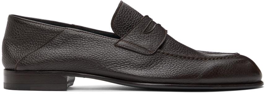 Brioni 棕色 Penny 乐福鞋