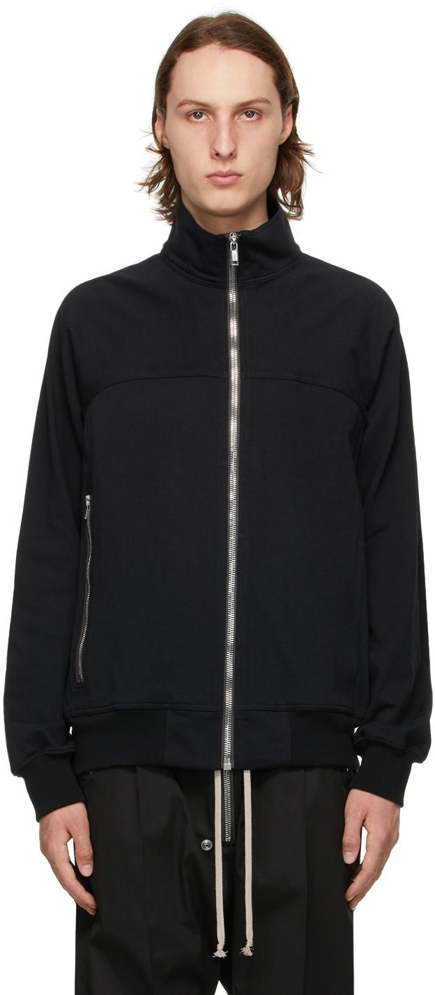 Rick Owens 黑色 Jogger 拉链针织衫