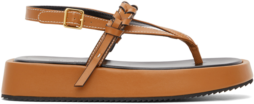 JW Anderson 棕色 Flatform 凉鞋