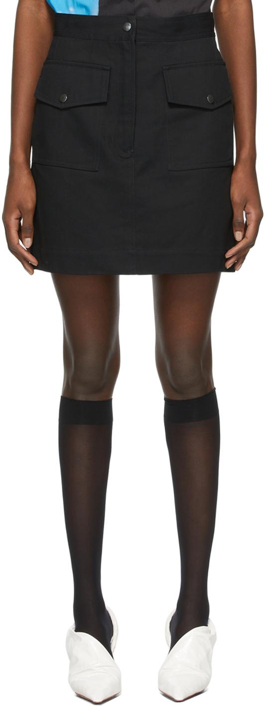 Dries Van Noten 黑色高腰短裙
