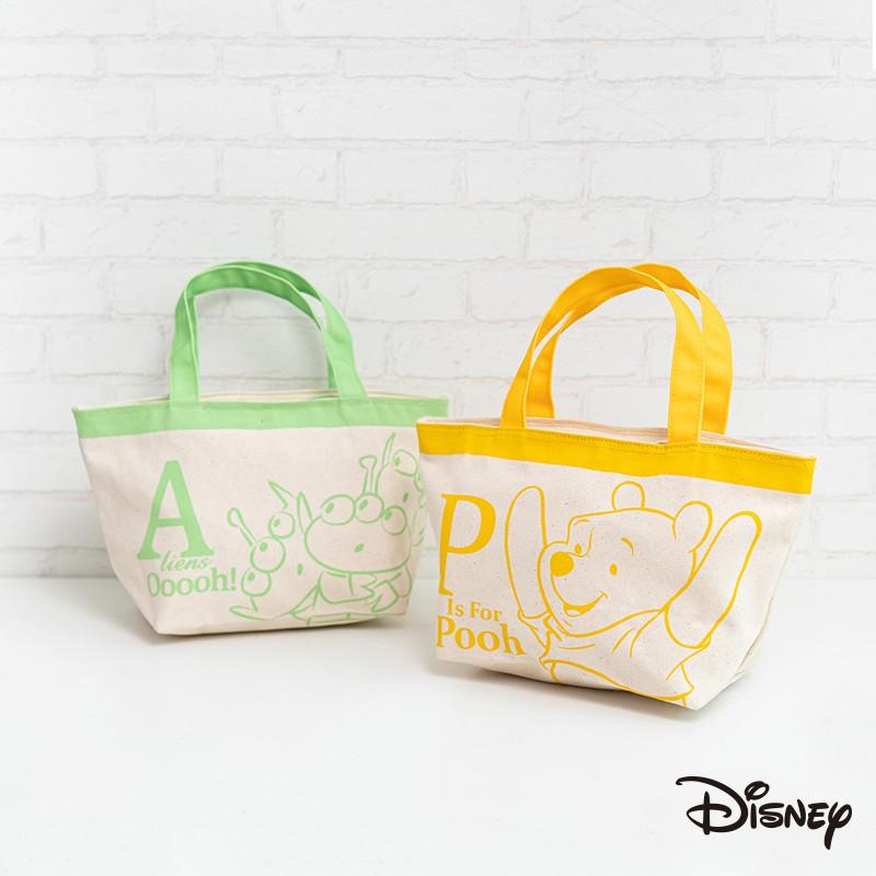 迪士尼 文具旗艦店|【MIT】帆布包 便當袋 史迪奇 奇奇 維尼 米奇 三眼怪 午餐袋 便當袋 帆布袋 CA619