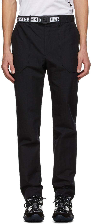 Fendi 黑色束带长裤