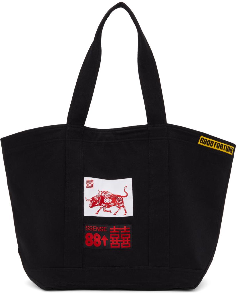 SSENSE WORKS SSENSE 独家发售 88rising 系列黑色贴饰托特包