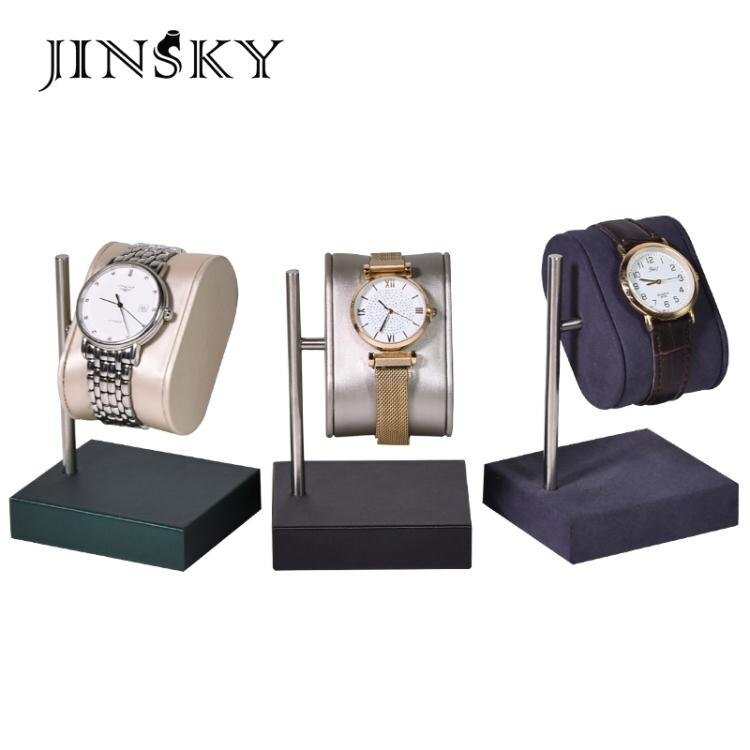 今仕爵手錶展示道具超纖皮革手錶架托情侶款手錶陳列座子家用收納 果果輕時尚