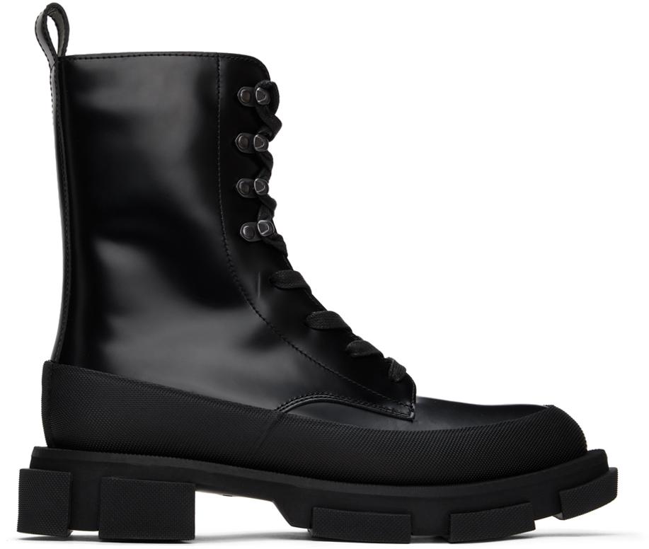 both 黑色 Gao 中筒靴